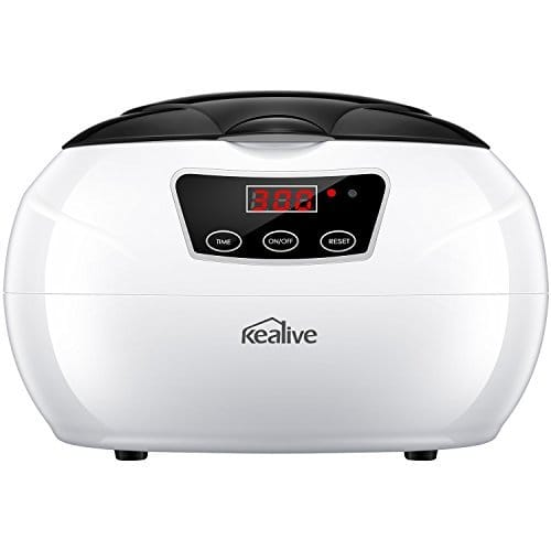 Ultrasonic Cleaner Professional Ultrasonic Jewelry Cleaner with Digital Timer, Portable Household Ultrasonic Cleaning Machine for Eyeglasses Watch Ring Diamond Denture Cleaner by Kealive