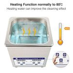 Ultrasonic Cleaner, Skymen Ultrasonic Cleaning Machine with Digital Timer/Heating Bath for Jewelry Watches Eyeglasses Dentures Glasses Metal Parts