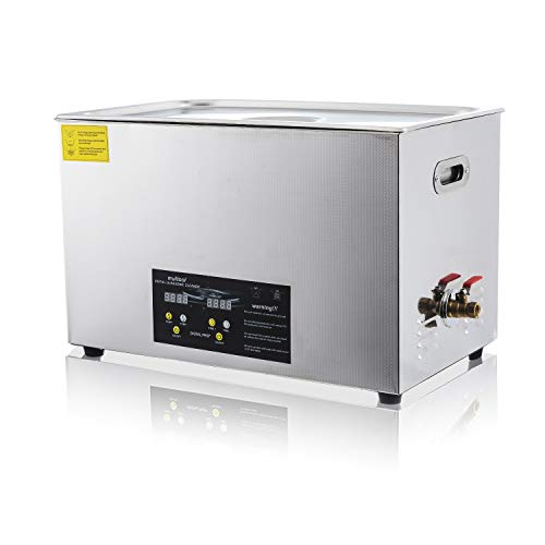 Commercial Ultrasonic Cleaner Heated Parts Cleaner 30L for Guns Carburetors Injectors Jewelry Dentures Large Capacity Use in Automotive Medical and Firearm Industry