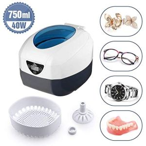 Uten Ultrasonic Cleaner – 0.75L Low Noise Wash Machine for Cleaning Eyeglasses, Jewelry, Watches, Razors, Dentures Combs