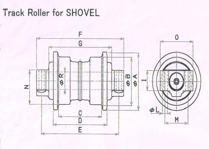 China Best Hitachi Excavator Track Rollers Manufacturers