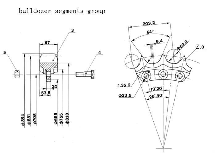 China Best Bulldozer Segments Group Manufacturers