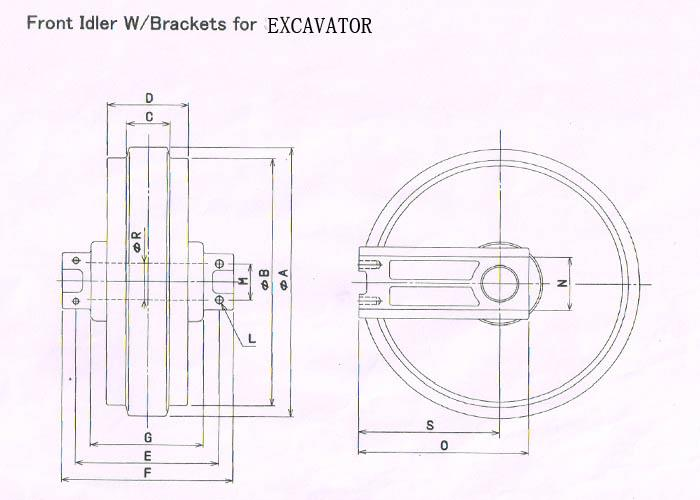 China Best Idler For Hitachi Ex60-2/3 Manufacturers