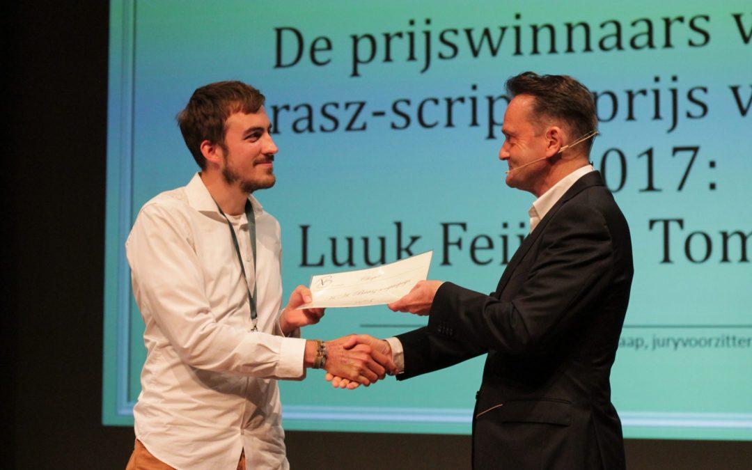 Luuk Feijt en Tom Johnson winnen H.A. Brasz scriptieprijs