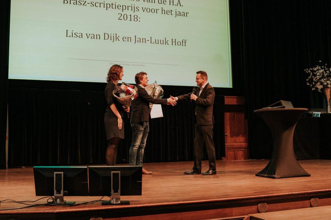 Lisa van Dijk en Jan-Luuk Hoff winnen H.A. Brasz scriptieprijs
