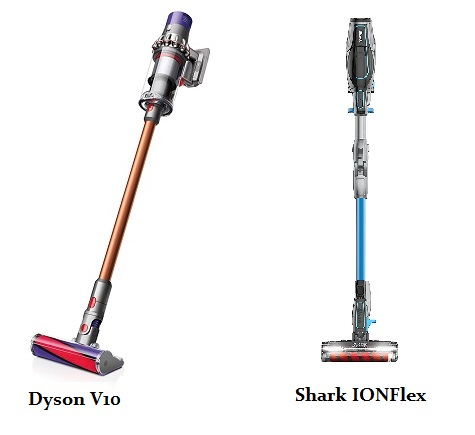 Shark IONFlex 2X Vs Dyson V10 (Side by Side Comparison)
