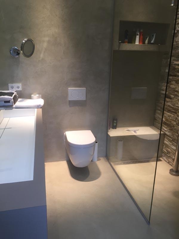 Apeldoorn microcement wand vloer badkamer