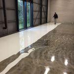 Renovatie industrievloer rolcoating Wassenaar 125 m2