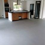 Microcement vloer bij woonhuis in Driel