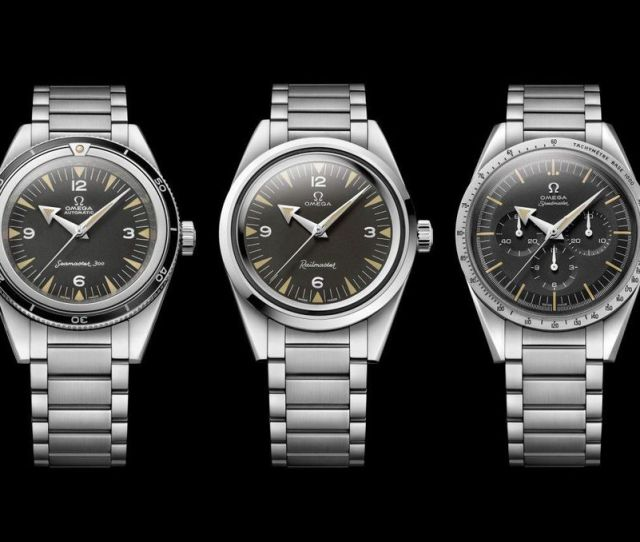 All Three Watches Are Cased In Brushed And Polished Stainless Steel And Feature Black Tropical Dials The Stainless Steel Bracelets Have Been Updated For