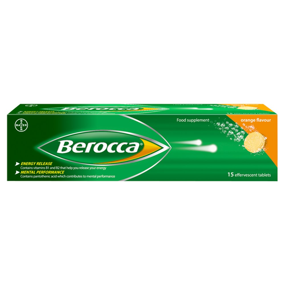 Berocca Orange Flavour 15 Effervescent Tablets | Bestway Wholesale