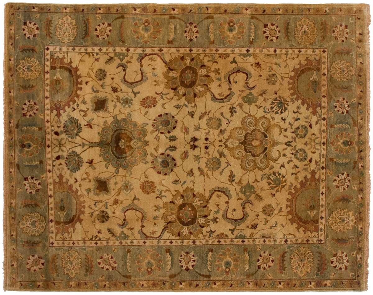 8 10 Jaipur Gold Oriental Rug 028109 Carpets By Dilmaghani