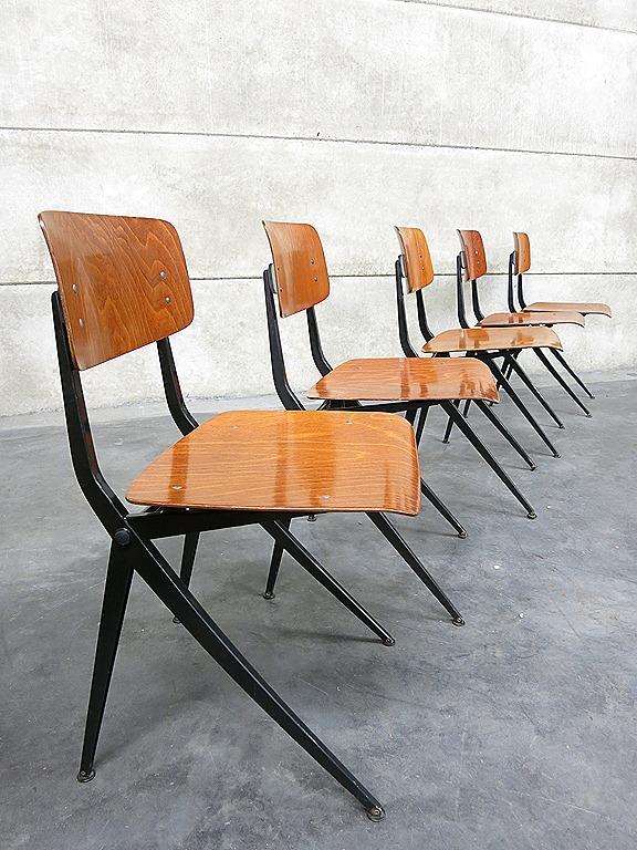 Industrial vintage chairs Marko vintage schoolstoelen
