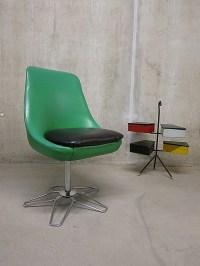 Fifties retro tulip desk chair/ vintage office chair ...