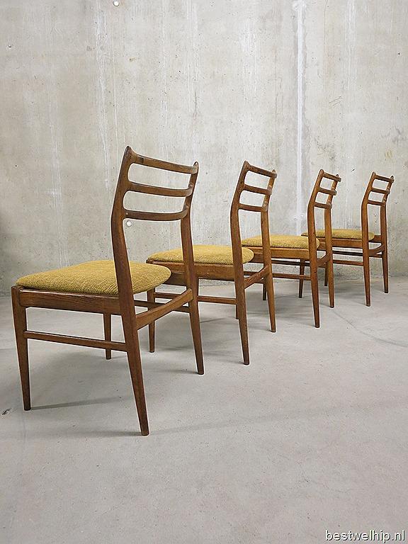 leather sling chairs fancy chair rental deense vintage eetkamerstoelen, dining danish design j. andersen, niels o. møller style ...