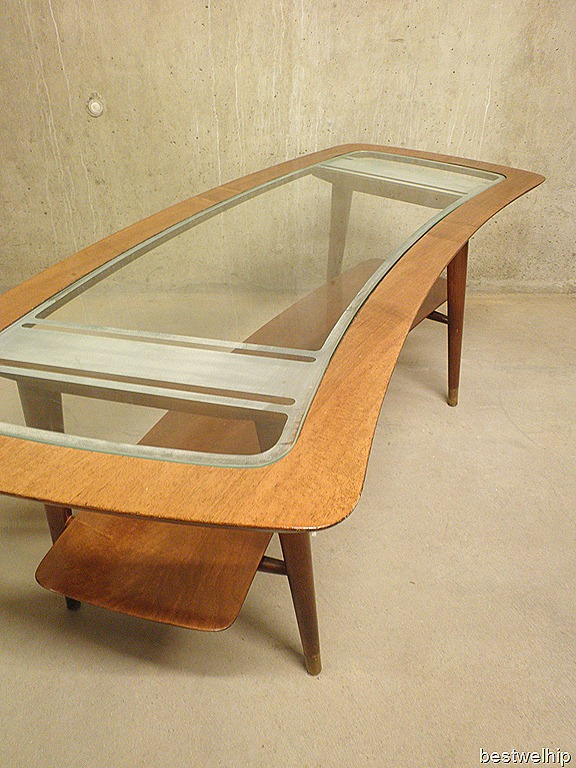 Mid century design salontafel niervorm  Bestwelhip