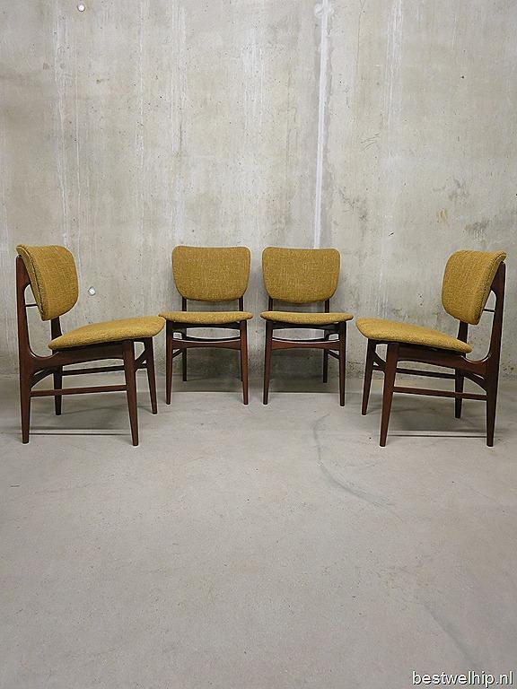 Deense eetkamerstoelen vintage dining chairs mid century