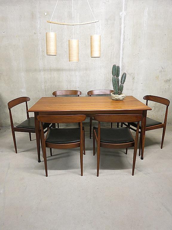 Mid century vintage design eetkamer stoelen Alfred