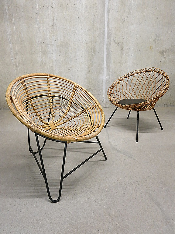 Mid Century Wicker Chair