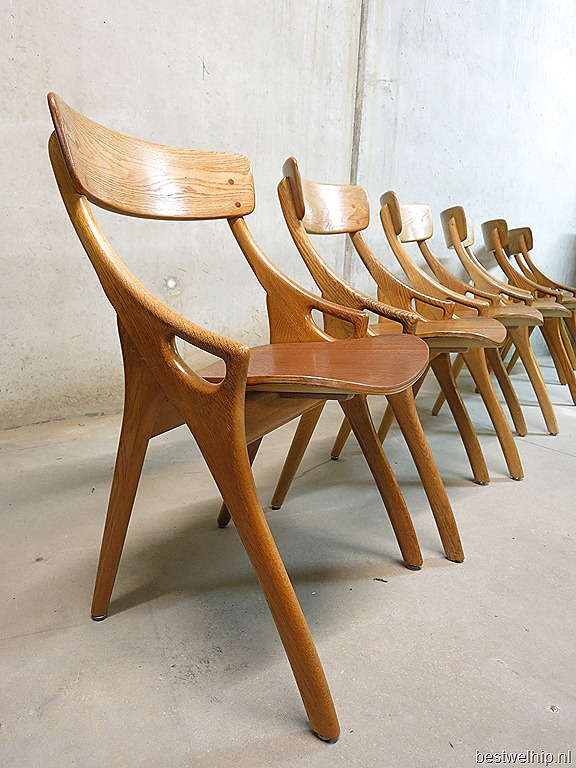 Danish dining chairs  dining table H Olsen vintage
