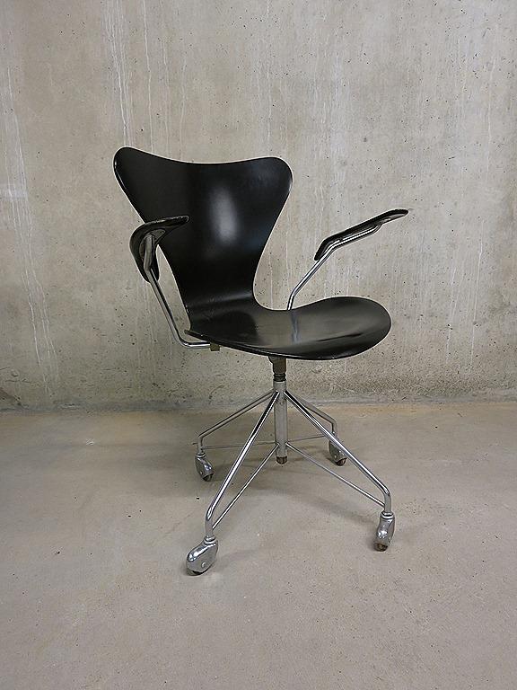 Vintage design bureaustoel stoel Arne Jacobsen Fritz
