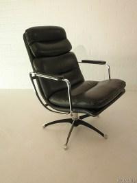 Vintage leren lounge chair eames stijl | Bestwelhip