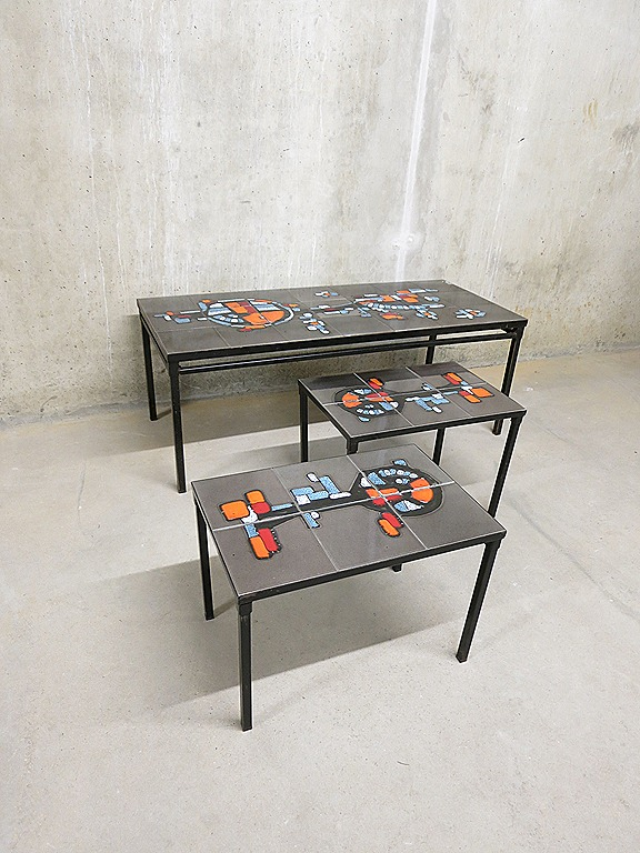 Vintage salontafel  tile table set Adri  Bestwelhip