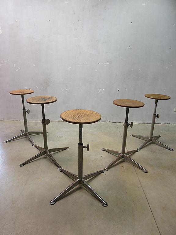 Partij Friso Kramer vintage design bar krukken kruk
