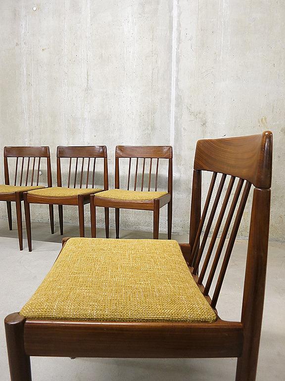 Vintage eetkamerstoelen Deens Danish vintage design