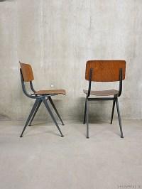Vintage school chairs Industrial Friso Kramer style ...
