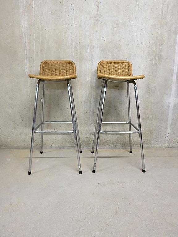 Vintage Dirk van Sliedrecht barkruk stool  Bestwelhip