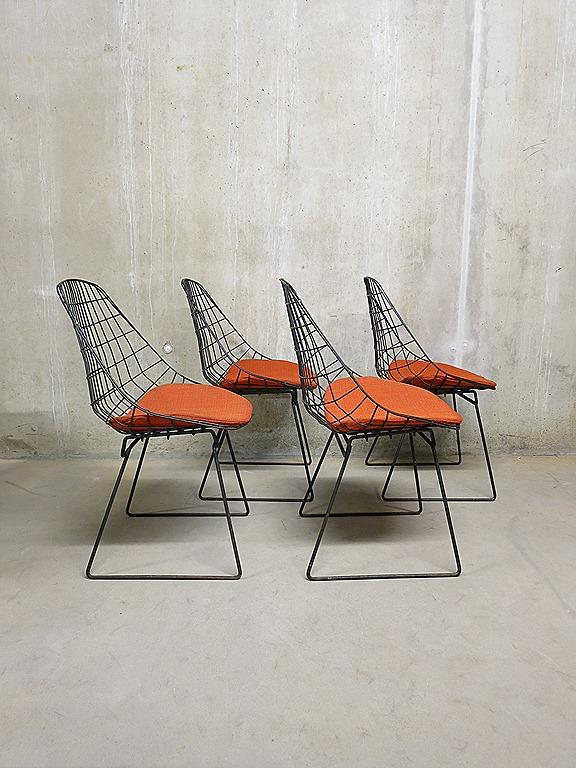 Pastoe draadstoelen Cees Braakman wire chairs  Bestwelhip