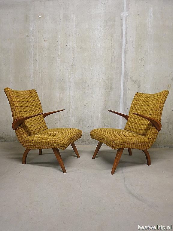 Mid century vintage design seating group lounge bank sofa