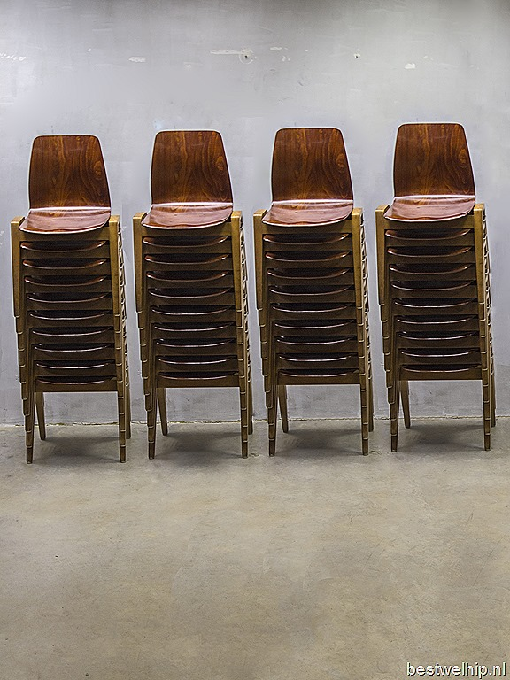 Vintage design stacking chairs dining chairs vintage