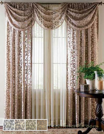 swag kitchen curtains decorative canisters sets bordeaux lace sheer curtain drapery panels