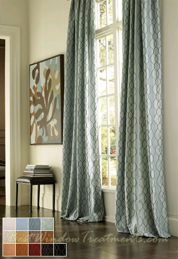 Pasha Curtain Panel Available In 13 Colors
