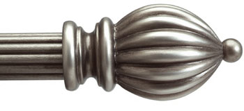custom 1 3 8 wood curtain rod in antique silver extra long available bestwindowtreatments com