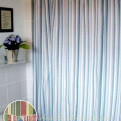 Swag Curtains For Kitchen Sears Cabinets Cottage Stripe Shower Curtain Available In 2 Colors