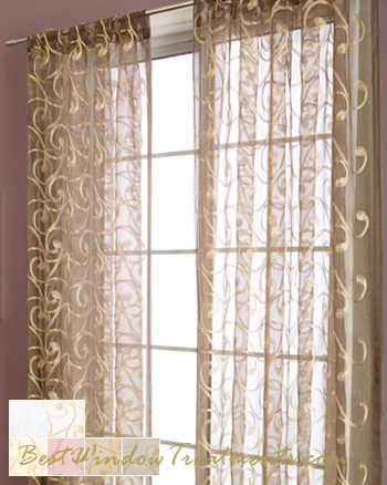 Zino Sheer Curtain Panel Available In 6 Colors