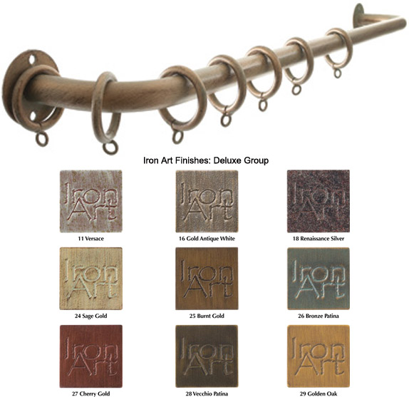 french return 3 4 diameter custom curtain rods iron art deluxe finishes bestwindowtreatments com