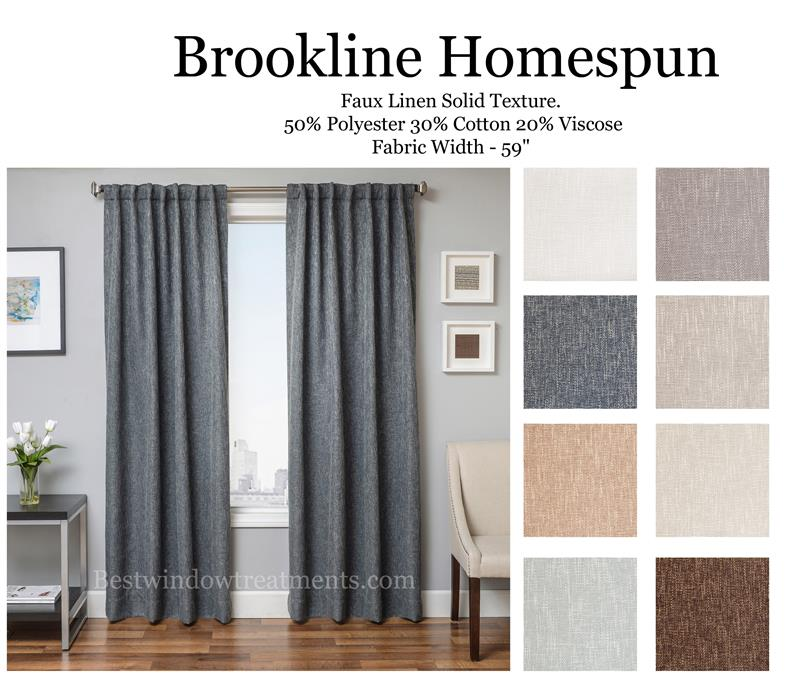 brookline linen curtain drapery panels bestwindowtreatments com