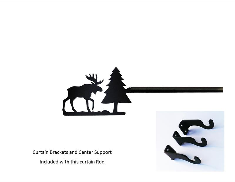 black iron moose pine curtain rod extendable 113 130 inches bestwindowtreatments com