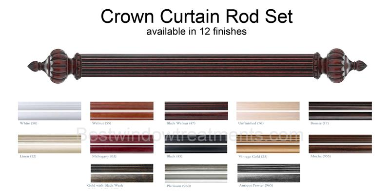 crown custom select wood rod set 1 3 8 diameter bestwindowtreatments com