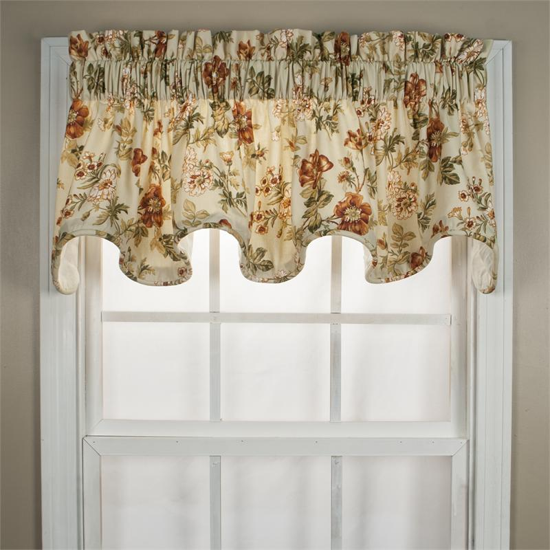 black kitchen curtains and valances booths for sale farrell scallop valance