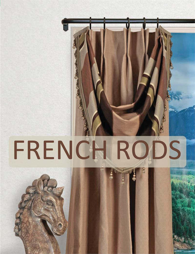 artistica french style curtain rod 1 1 4 diameter bestwindowtreatments com