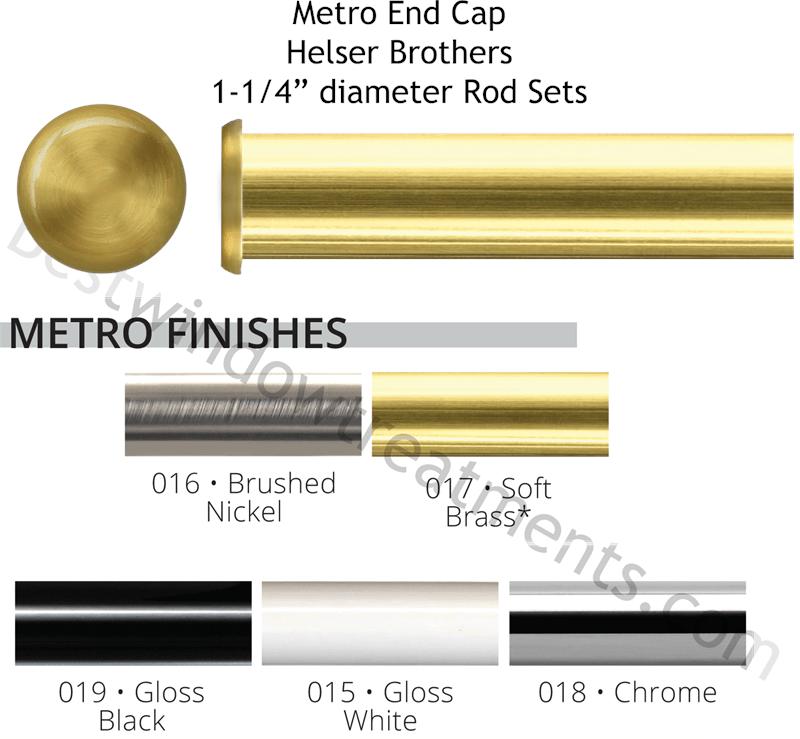 helser brothers metro custom 1 1 4 iron curtain rod end cap www bestwindowtreatments com