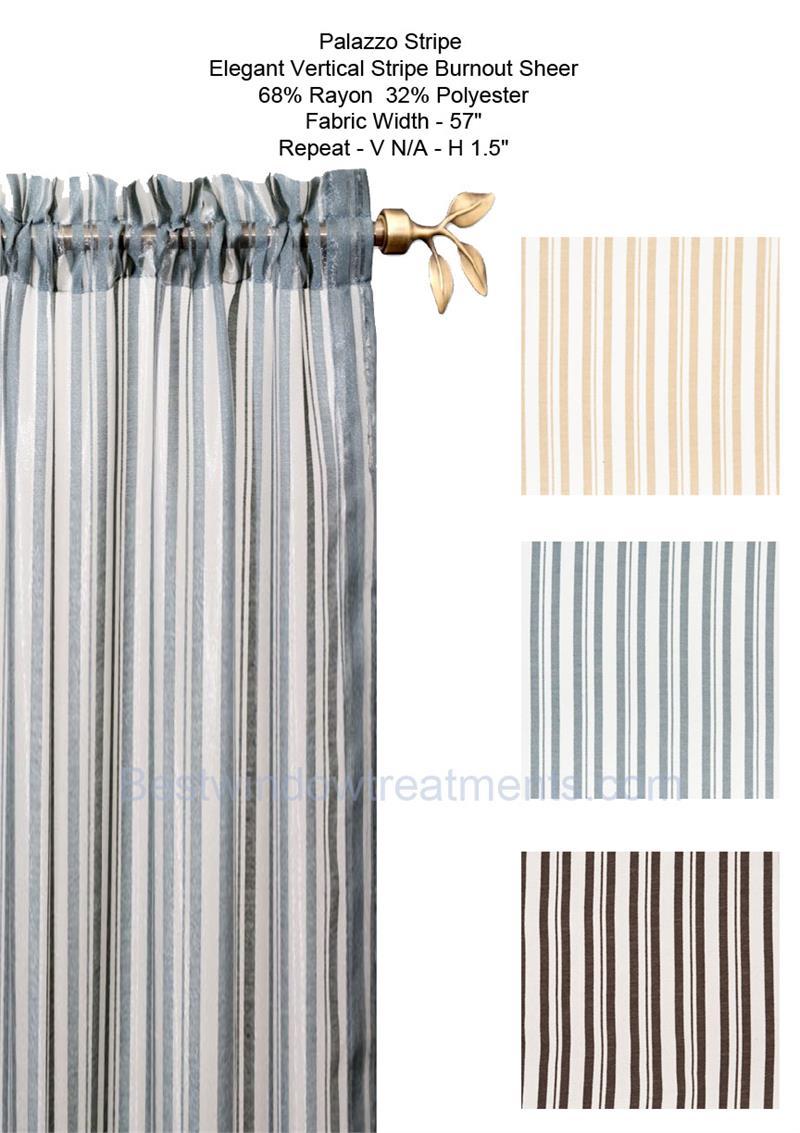 palazzo stripe burnout sheer curtain panel bestwindowtreatments com