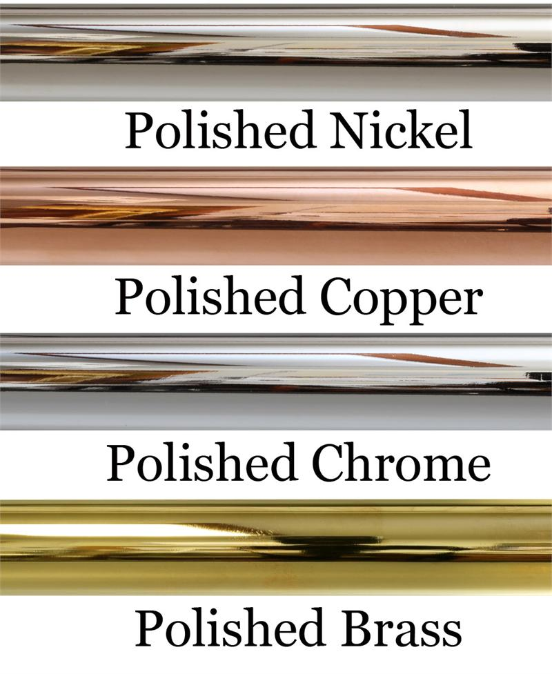 polished metal french style rod 3 4 solid iron curtain rod