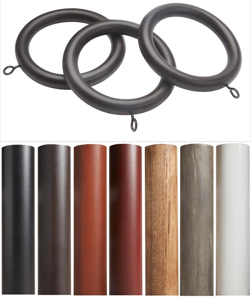 sedona wooden curtain rod rings 10 pack bestwindowtreatments com