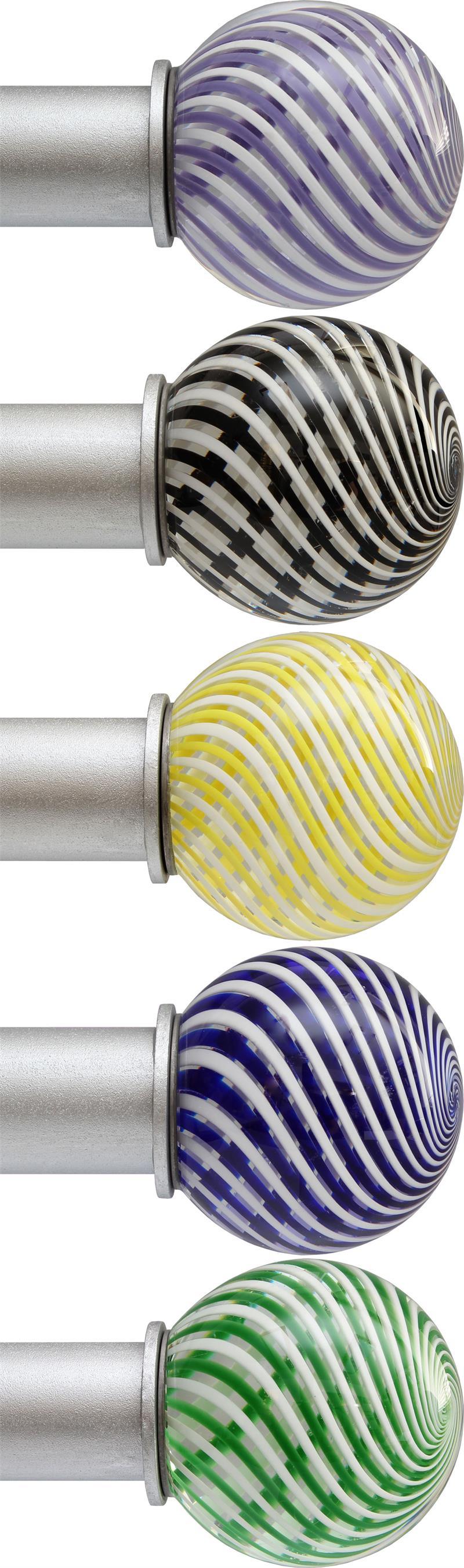 artist glass swirl ball custom 1 dia iron curtain rod bestwindowtreatments com